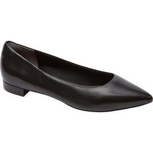 Rockport Leather Adelyn Ballet Black Flat Sz. 9